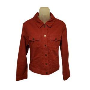 L.L. Bean 1912 red denim jacket